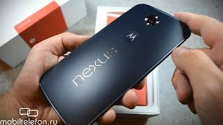 Распаковка Motorola Nexus 6 в цвете Midnight Blue (unboxing)