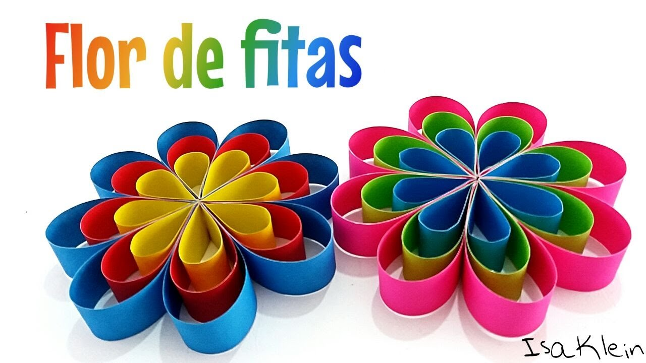 Flor Com Tiras De Papel Colorset Youtube