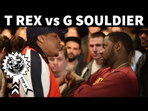 T Rex vs. G Souldier Rap Battle - No Coast/Battle America