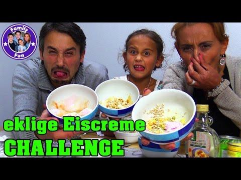 ice-cream-sundae-challenge- -eiscreme-becher-mit-ekeligen-zutaten- -family-fun