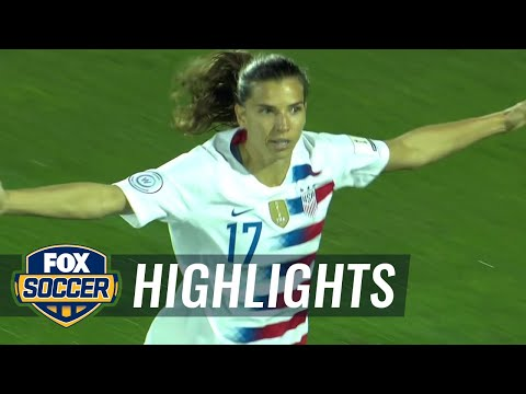Tobin Heath scores in 2nd minute for USWNT against Jamaica  2018 CONCACAF Women's Championship
