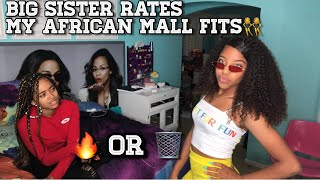 SISTER RATES MY AFRICAN MALL OUTFITS ⁉️