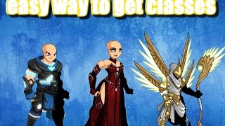 how to get free classes in aqw