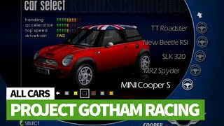 All Cars In Project Gotham Racing