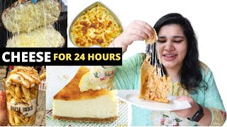 24 hour Cheese Challenge 🧀🧀🧀   SAY CHEESE 😁😁 // 24 hour challenge