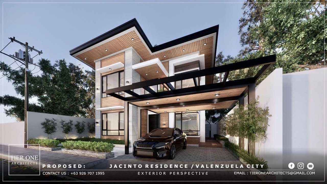 Jas Residence 200 Sqm House Design 250 Sqm Lot Tier One Architects Youtube