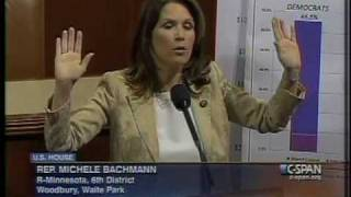 Bachmann demands a government takeover in response to oil spill