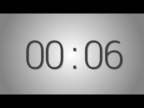 6 Seconds countdown Timer - 5 beep at the end | Simple Timer (six sec)