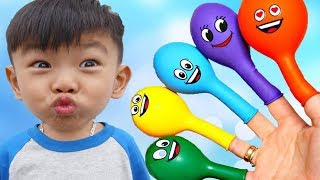 Colors Song - Baby Nursery Rhymes Learn Colors for kids with Fingers Balloon