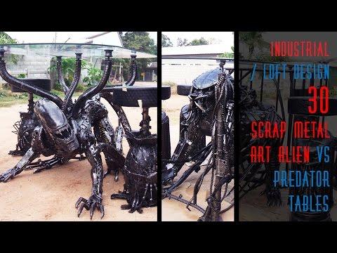 30 DIY Scrap Metal Art Alien vs Predator Tables