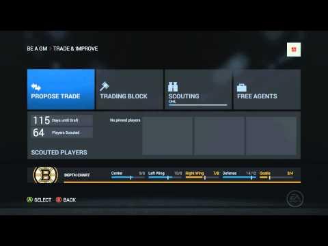 NHL 16 - GM Mode LiveStream Sim
