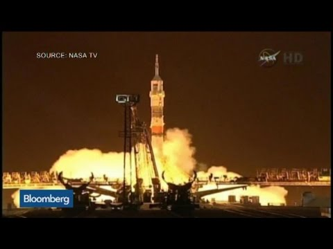 Lift Off: Soyuz Spacecraft Launches for Space Station