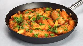 Идеальный ужин за 30 минут ЖАРКОЕ ИЗ КАРТОФЕЛЯ И КОЛБАСОК на сковороде Рецепт от Всегда Вкусно