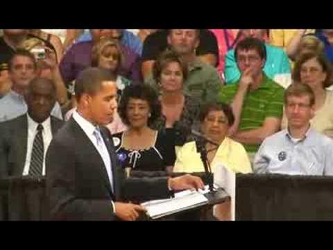 Barack Obama; Bristol, VA -Town Hall Meeting 6/5/2008 © Stephanos 2008