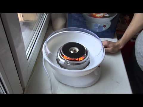 Машина для приготовления сахарной ваты CFM-1080 от Smile. Видеобзор.
