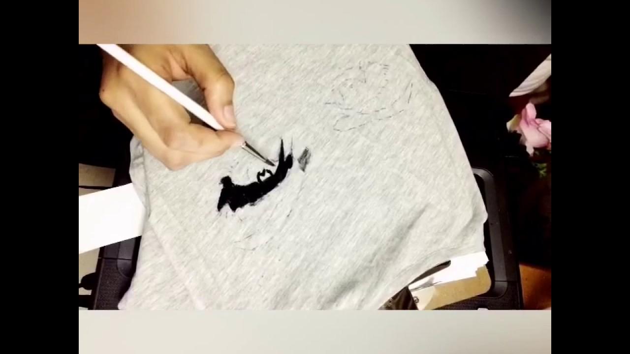 الرسم على تيشيرت برقع Youtube