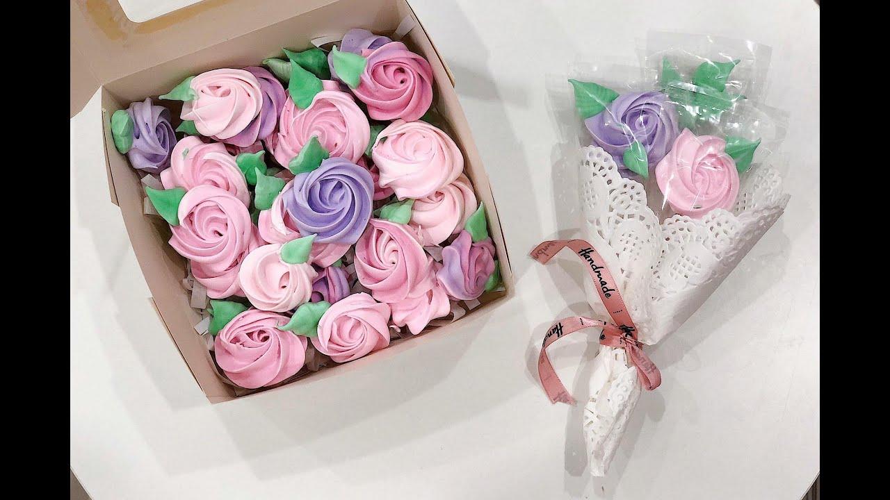 Kẹo meringue hoa hồng-Món quà ngọt ngào ngày 8/3 siêu dễ làm :)))