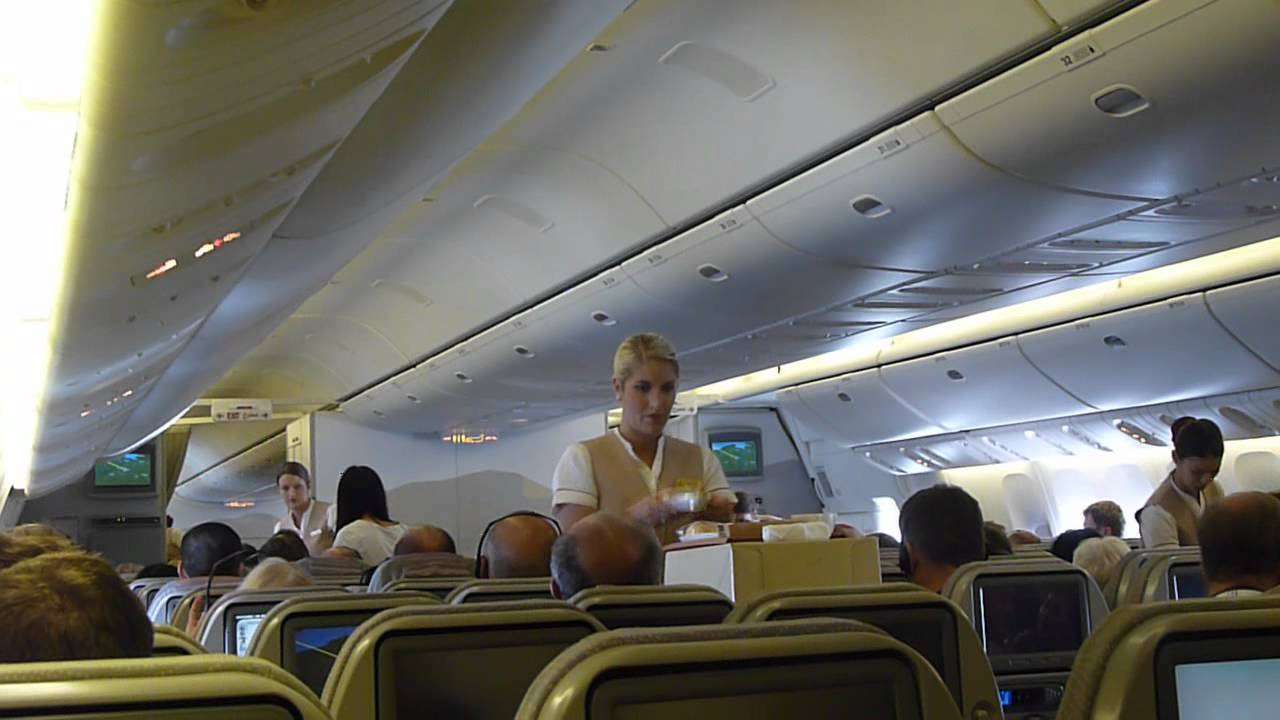 Emirates B777300ER Inaugural Flight Newcastle To Dubai Economy Full