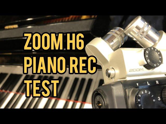 ZOOM H6 Piano Recording Test (Capsule vs External Mic)