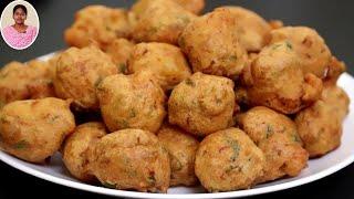 Snacks Recipes in Tamil ஒரே ஒரு முறை மட்டும் இதுபோல போண்டா செஞ்சி பாருங்க..