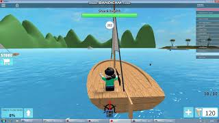 ROBLOX, hunt sharks until my hands and feet loose