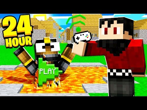 PAUSE CHALLENGE in MINECRAFT For 24 HOURS! *Bad Idea*