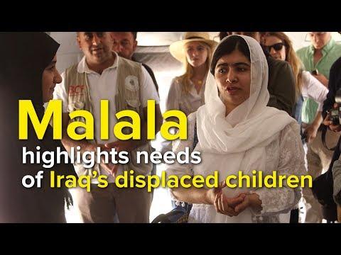 Iraq: Malala highlights needs of displaced children