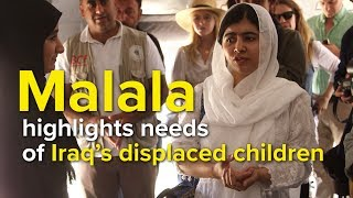 Iraq: Malala highlights needs of displaced children