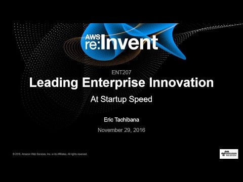 AWS re:Invent 2016: Leading Enterprise Innovation at Startup Speed (ENT207)
