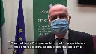 Monitoraggio settimanale Covid-19, il commento di Gianni Rezza al report 4 - 10gennaio