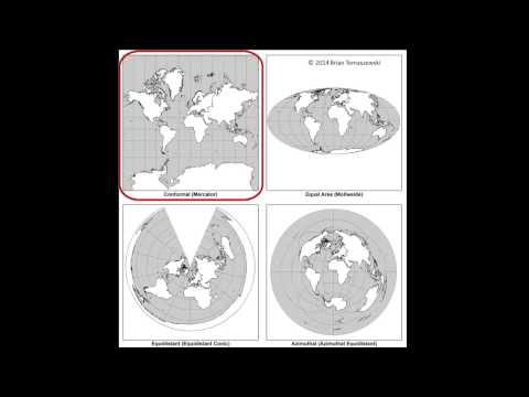 Map Projections: A Video Lecture