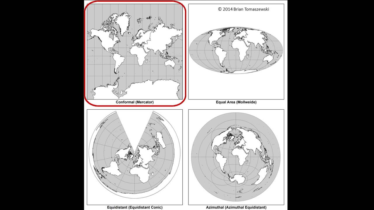 map projections a video lecture doovi. Black Bedroom Furniture Sets. Home Design Ideas
