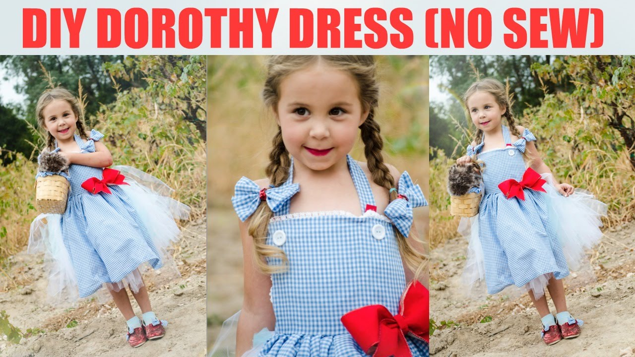 diy no sew dorothy dress wizard of oz youtube
