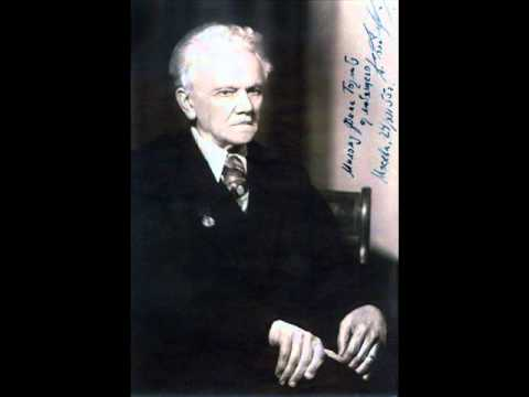 """Alexander Goldenweiser plays Beethoven Sonata No. 14 in C sharp minor Op. 27 No. 2 """"Moonlight"""""""