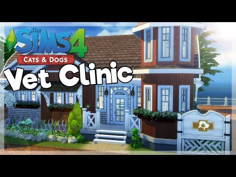 Miller Family Vet Clinic | The Sims 4 CC Speed Build