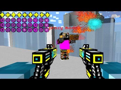 OMG !! HACKER VS GODMODER  | Pixel Gun 3D