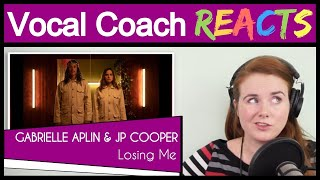 Gambar cover Vocal Coach reacts to Gabrielle Aplin & JP Cooper - Losing Me (Official Video)