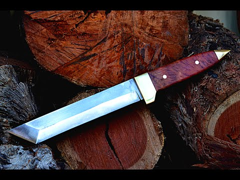 Knife making - making a Japanese tanto fighting knife