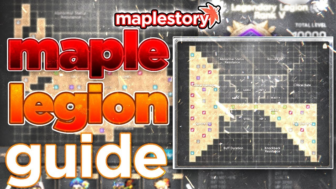 Maplestory Best Resistance Class 2019 MapleStory: COMPLETE Maple Legion Guide! (2019)   YouTube