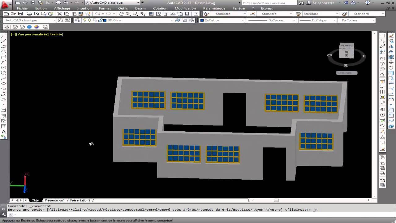 3d house design in autocad parte 1