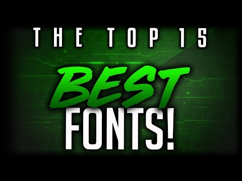 Best FREE Fonts To Use For YouTube 2018! (For Banners/Headers/Logos/Thumbnails)