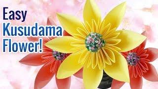 DIY Paper Flowers: How to Make Beautiful & Super Easy Paper Flowers | Kusudama Flower