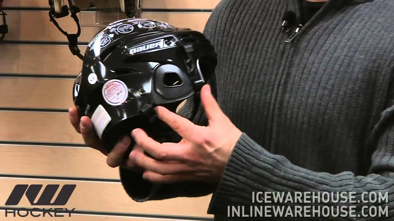 Bauer 2100 Hockey Helmet - YouTube 071175892e