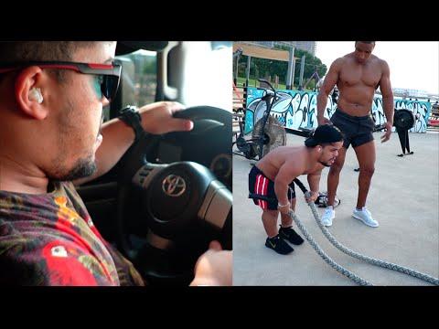 اول مرة فرنكي يقود سيارة في دبي .. صافي قرر باش احيد الكرش