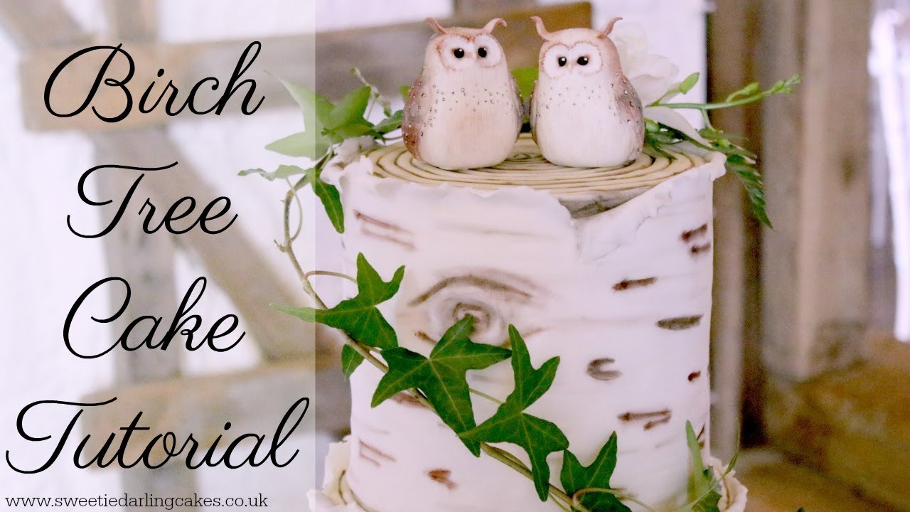 How to make a Birch Tree Effect Cake - YouTube