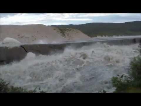 Watson River Kangerlussuaq oversvømmer bro