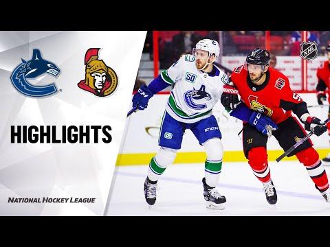 NHL Highlights   Canucks @ Senators 2/27/20