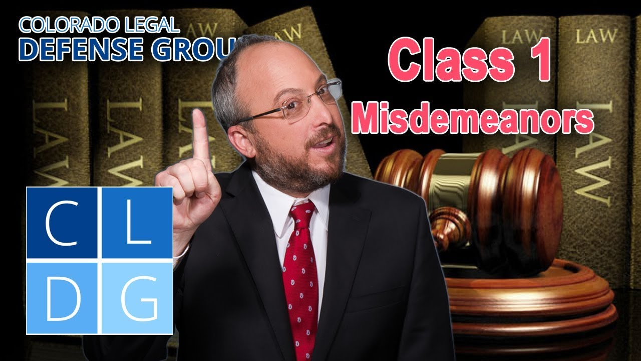 What are class 2 misdemeanor penalties in Colorado?