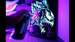 Venom GLOW IN DARK SPRAY PAINT ART by Skech