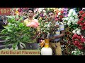 Gambar cover Artificial Flowers at Cheapest Price  Home Decor Items Wholesale  Sadar Bazar Flower Market in Delhi